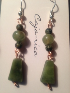 SOLD green aventurine beads on copper wire